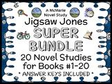 Jigsaw Jones SUPER BUNDLE (Preller) 20 Novel Studies: Books #1-20  (548 pages)