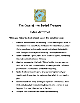 Jigsaw Jones The Case Of The Buried Treasure James Preller Comprehension Packet