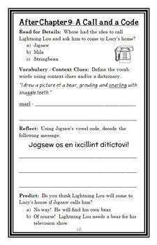 Jigsaw Jones: The Case of the Bear Scare (James Preller) Novel Study