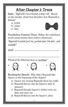Jigsaw Jones: The Case of the Golden Key (Preller) Novel Study / Comprehension