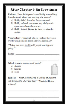 Jigsaw Jones: The Case of the Mummy Mystery (James Preller) Novel Study (26 pgs)