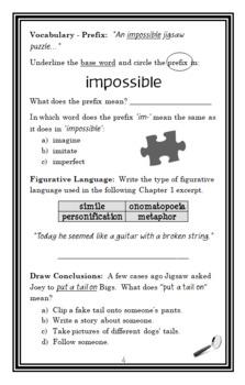 Jigsaw Jones: The Case of the Perfect Prank (Preller) Novel Study/ Comprehension