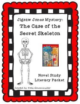 Jigsaw Jones The Case of the Secret Skeleton novel study comprehension packet