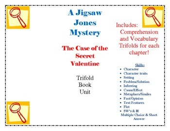 Jigsaw Jones The Case of the Secret Valentine Trifold Book Unit