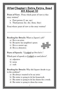 Jigsaw Jones: The Case of the Spoiled Rotten Spy (James Preller) Novel Study