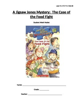 Jigsaw Jones and the Case of the Food Fight LP and Student Work Packet - Level M