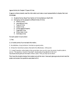 Jigsaw Lesson Plan for Criminal Justice