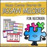 Music Center Starter - Jigsaw Melody Centers for Recorder Improvisation