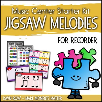 Music Center Starter - Jigsaw Melody Centers for Recorder Improvisation