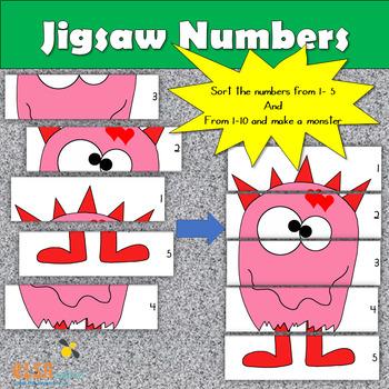 Jigsaw Numbers - Maths sorting