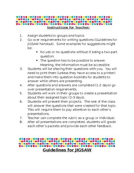 Jigsaw Project Unit for any topic!