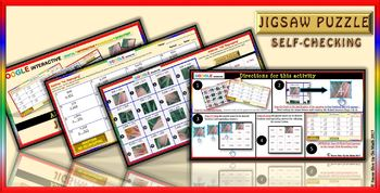Jigsaw Puzzle: 3 Digits Addition - No Regrouping (Google Drive & Hard Copy)