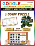 Jigsaw Puzzle: 3 Digits Addition - with Regrouping (Google Drive & Hard Copy)