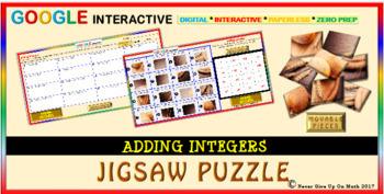 Jigsaw Puzzle:Adding Integers (Google Interactive & Hard Copy)