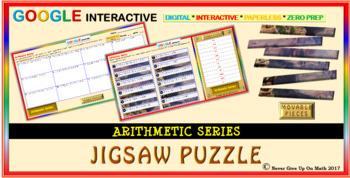 Jigsaw Puzzle: Arithmetic Series (Google Interactive & Hard Copy)