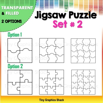 Jigsaw Puzzle Blank Templates Set #2