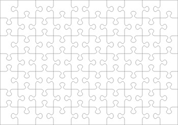 Jigsaw Puzzle Blank Transparent Template, Commercial Use Allowed