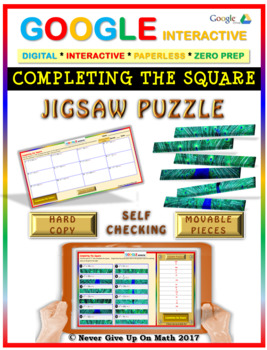 Jigsaw Puzzle: Completing the Square (Google Interactive & Hard Copy)
