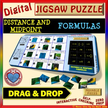 Jigsaw Puzzle: Distance & Midpoint Formulas (Google Drive & Hard Copy)