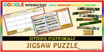 Jigsaw Puzzle: Dividing Polynomials (Google Interactive & Hard Copy)