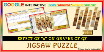 """Jigsaw Puzzle: Effect of """"a"""" on graph of QF (Google Interactive & Copy)"""