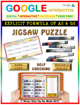 Jigsaw Puzzle: Explicit Formula Arithmetic Geometric (Google Interactive & Copy)