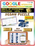 Jigsaw Puzzle FREEBIE: Zeros Polynomial Functions Level 1 (Google & Hard Copy)