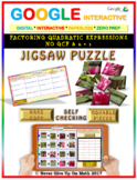 Jigsaw Puzzle: Factoring Quadratic Expressions No GCF(Google Interactive & Copy)