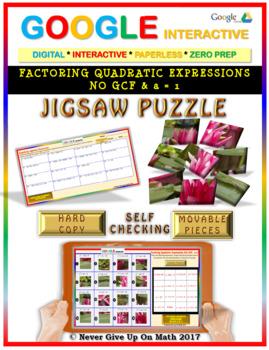 Jigsaw Puzzle: Factoring Quadratic Expressions No GCF(Google Interactive & Copy)