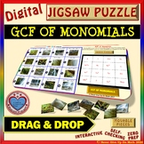 Jigsaw Puzzle: GCF OF MONOMIALS (Google Interactive & Copy)