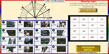 Jigsaw Puzzle: Measuring Angles (Google Drive & Hard Copy)