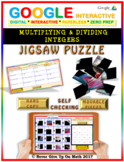 Jigsaw Puzzle: Multiplying & Dividing Integers (Google Interactive & Hard Copy)