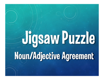 Spanish Noun Adjective Agreement Jigsaw Puzzle