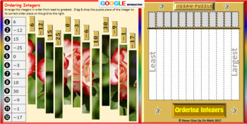 Jigsaw Puzzle:Ordering Integers (Google Interactive & Hard Copy)