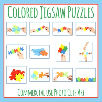 Jigsaw Puzzle Photo / Photograph Clip Art Set for Commercial Use
