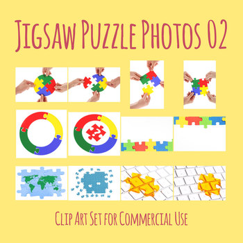 Jigsaw Puzzle Photos / Photographs 2 Clip Art Set for Commercial use