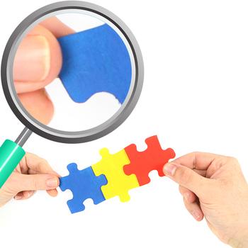 Jigsaw Puzzle Photos / Photographs Clip Art Set for Commercial use