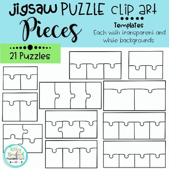jigsaw puzzle clip art templates teaching resources teachers pay