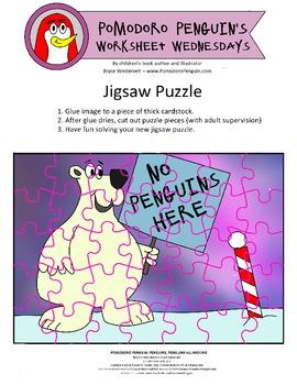Jigsaw Puzzle: Pomodoro Penguin Worksheet Wednesday No. 5