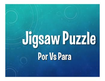 Por Vs Para Jigsaw Puzzle