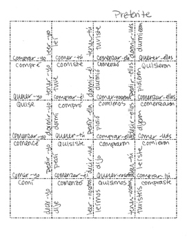 Spanish Preterite Jigsaw Puzzle