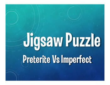 Spanish Preterite Vs Imperfect Jigsaw Puzzle