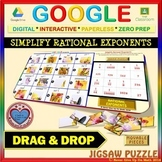 Jigsaw Puzzle: Simplify Rational Exponents (Google Drive &