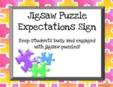 Jigsaw Puzzle Expectations Sign