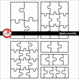 Jigsaw Puzzle Template Clipart by Poppydreamz