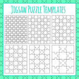 Jigsaw Puzzle Templates Clip Art for Commercial Use