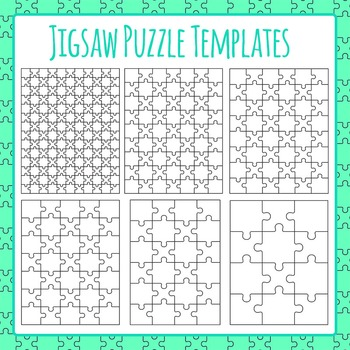 jigsaw puzzle templates clip art for commercial use by hidesy s clipart