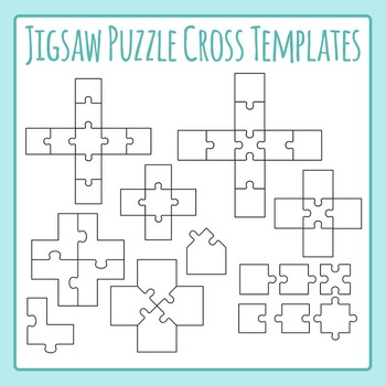 Jigsaw Puzzle Templates - Crosses, Xs, Pluses - Commercial