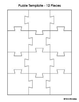 Free Jigsaw Puzzle Template from ecdn.teacherspayteachers.com