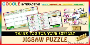 Jigsaw Puzzle: Zeros of Polynomial Functions Level 2 (Google Drive & Hard Copy)